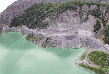 Artvin Barajı Terramesh Sistem Duvar Uygulaması
