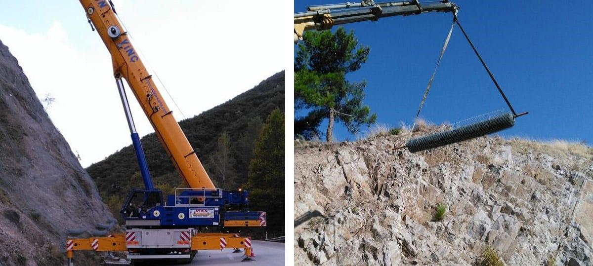 KGM 14 Bölge Müd Şube Sınırlarındaki Yol Kesimlerinde Kaya Düşmesi